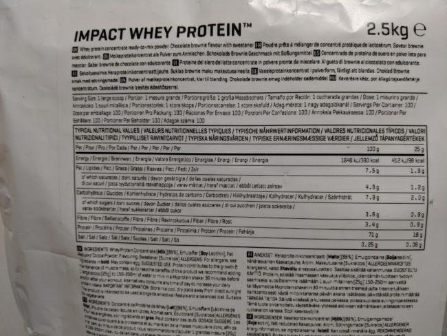 マイプロテイン IMPACT WHEY(チョコレートブラウニー味) のレビュー
